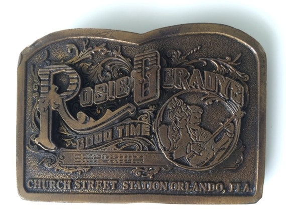 Brass Belt Buckle - Vintage Rockabilly Retro