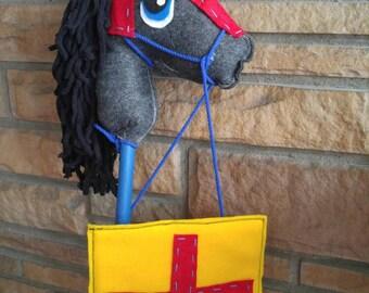 Knight with Shield Felt Hobby Horse