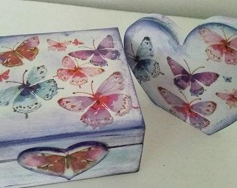Happy Butterflies Set Box & Heart