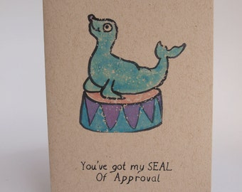 Greeting Card - Seal of approval