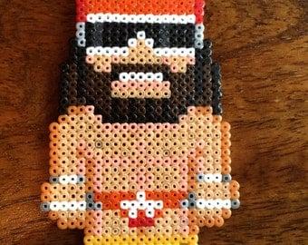 Macho Man Randy Savage Pixel Art Mini Bead Keyring