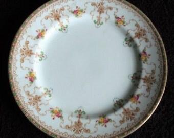 Fine Bone China, Tea Plate, Sandwich Plate, English Porcelain, Autumn Floral Plate, Side Plate, Vintage Party Tableware, Vintage Plate
