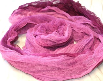 Cotton Muslin hand dyed fabric