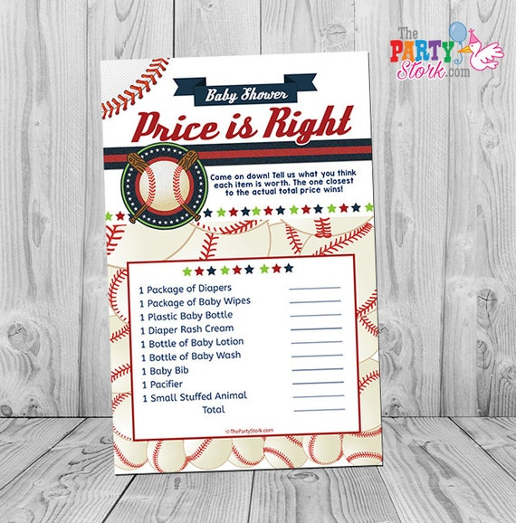 Baseball Baby Shower Game Baby Shower Games Printable