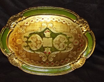 Decorative Wood Plate Lacquer Finish