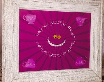 Cheshire Cat, Alice in Wonderland inspired print!