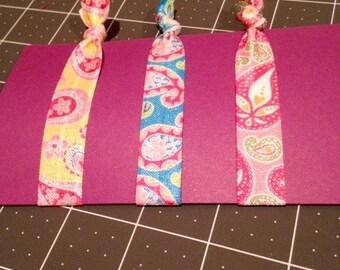 Paisley Elastic Ribbon Hair Ties