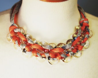 EIGHT - Pink and Grey Necklace