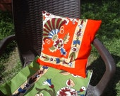 RUSTIC*PİLLOW*FLORAL*printed*gift idea*fasıon*hand made*boho*chic*cotton*for summer