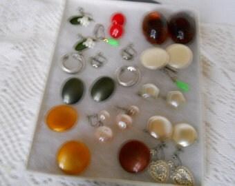 Vintage Jewelry Lot Clip On Earrings #314