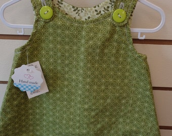 Green Tones Reversible Baby Dress