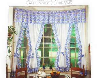 SALE Uncut Simplicity 9540 Sewing Pattern, Cottage Chic Valences and Curtains, Vintage Curtains Pattern, Window Shades