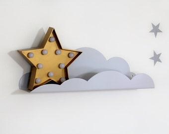 cloud shelf nursery furniture kids room