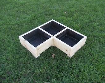 Large Wooden Planter / Window Box / Flower Planter / Herb Planter / Corner