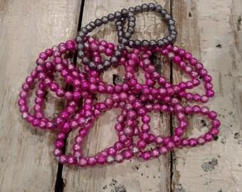 Pink Bead Bracelet