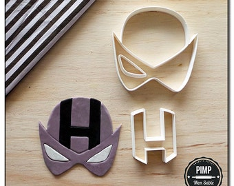 Cookie Cutter Logo Hawkeye / Set fondant