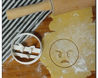 Cookie Cutter Emoticone Emoji Smiley angry
