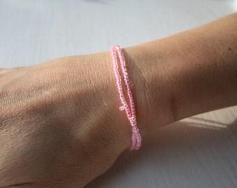 Light Pink Double Wrap Bracelet