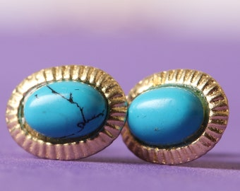GIRLS turquoise stone EARRINGS