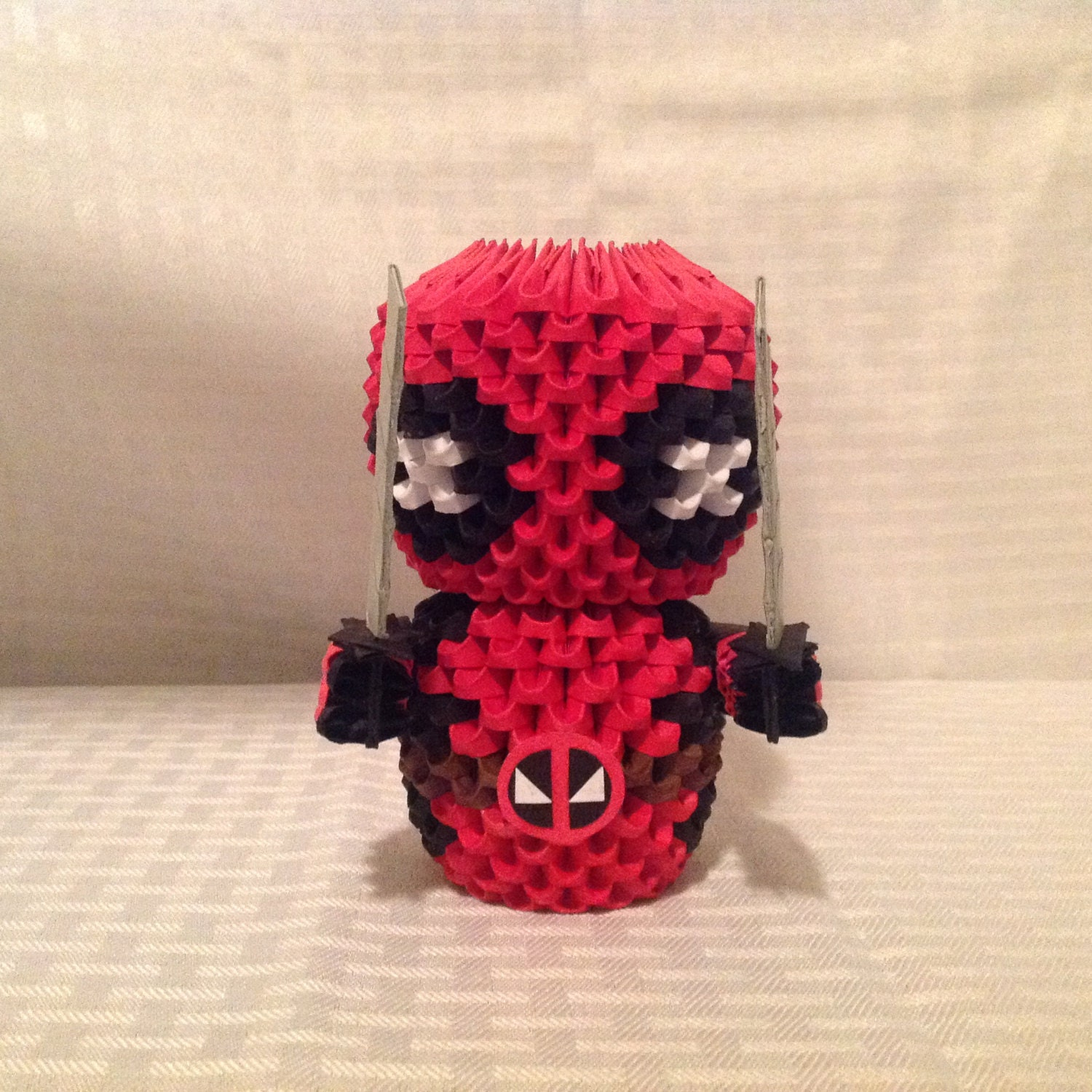 3D Origami Deadpool by WoodenThingamajigs on Etsy - photo#17