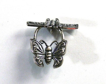 Sterling silver butterfly clasp