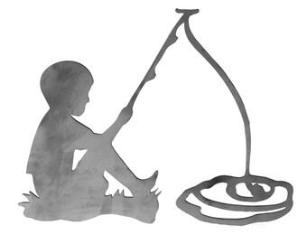 Little Boy Fishing Etsy