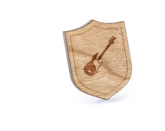 Bass Guitar Lapel Pin, Wooden Pin, Wooden Lapel, Gift For Him or Her, Wedding Gifts, Groomsman Gifts, and Personalized