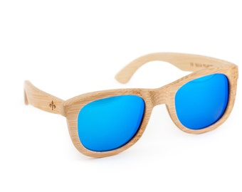 Fleur De Lis Wooden Sunglasses, Bamboo Sunglasses, Groomsmen Gifts, Personalized and Customized Sunglasses