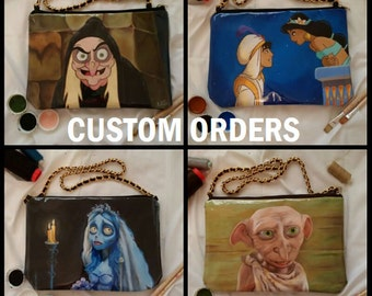 Custom handpainted bag - you choose the drawing!