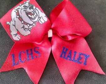 Bulldawg cheer bow