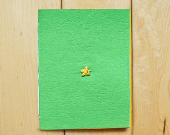 Little Star Card (Colored Paper with Thread)