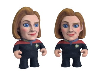 3D Printed Captain Janeway: Star Trek Caricature Janeway - Star Trek 50th Anniversary Art - Science Fiction Art