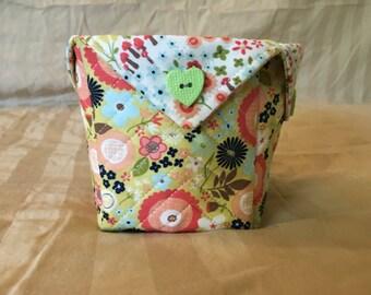 Flowery Fabric Organizer