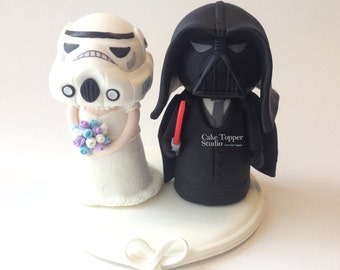 Cute Star Wars Wedding cake Topper