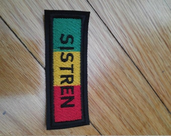 Sew on patch Rasta colored strip badge