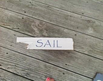 Sail Sign, Beachy,Coastal,Nautical, Beach, Shells, Seas