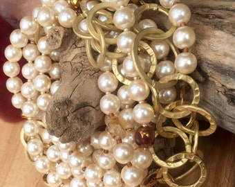 Pearls chains and things wrap necklace
