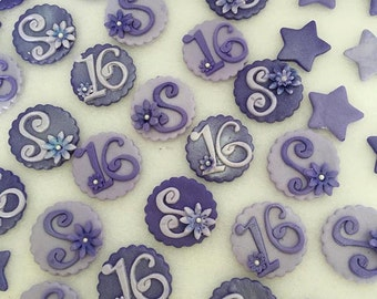 Letter & Number Edible Cupcake Toppers