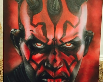 Darth Maul Airbrushed Canvas 1 of 1 no prints