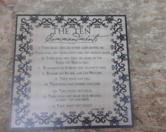 Ten Commandments Maple Wall Decore