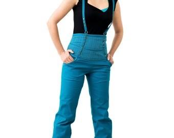 PinMeUp :  High Waist Corset Suspender Pants