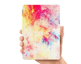 ipad air 2 case smart case cover for ipad mini air 1 2 3 4 5 6 pro 9.7 12.9 retina display abstract oil painting white red