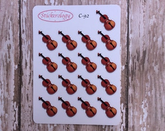 Violin Stickers, Viola Stickers, Cello Stickers, Music Lessons or Practice Reminder Stickers, Planner Stickers, C-92.