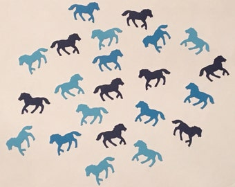 225 Blue Horse Confetti Blue Pony Confetti Horse Party Pony Party Blue Confetti Birthday Confetti Horse Confetti Pony Birthday Blue