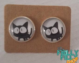 Kitty Cat ear studs earrings