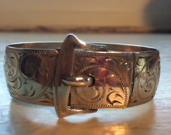 Beautiful Sterling Art Deco Buckle Bracelet