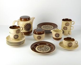 Complete VINTAGE COFFEE SERVICE, made by Colditz Annaburg Porzellan, East Germany