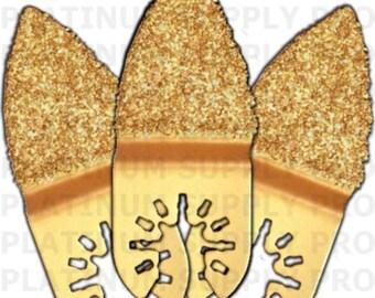 qb23; 3pk finger carbide multitool grout blades fits makita dewalt porter cable