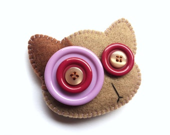 Brooches Gattilli (available in various color combinations)