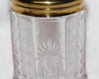 "Art Nouveau ""Cherub & ROSES Lidded Dresser Jar"